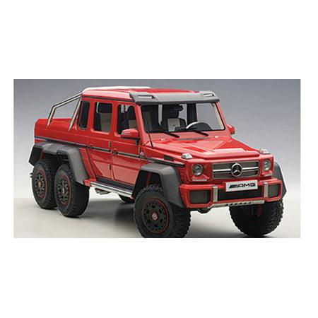 mercedes g63 amg 6x6 red 1/18 model carautoart - walmart