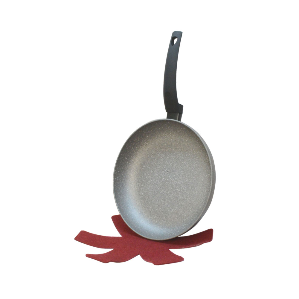 8'' Lava Stone Fry Frying Pan w/ Felt Pad Non Stick Scratch Resistant Skillet Eco Friendly
