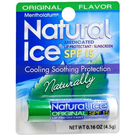 Mentholatum Natural Ice Lip Balm Original SPF 15 1 Each (Pack of 6)