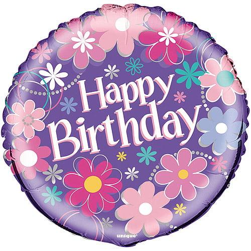 "18"" Foil Birthday Blossom Balloon"