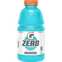 Gatorade G Zero Thirst Quencher, Glacier Freeze, 32 oz Bottle