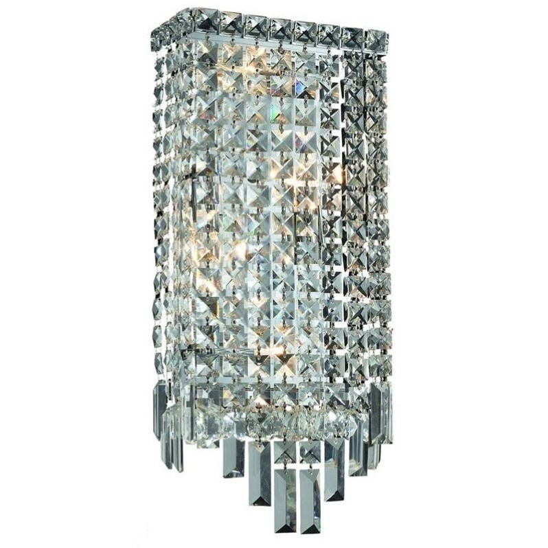 "Elegant Lighting Maxime 18"" 4 Light Elements Crystal Wall Sconce"