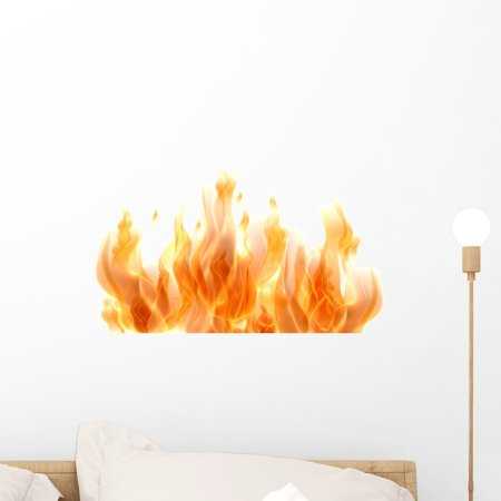 Graphics Tribal Flames Decals - Fire 3D Fire Flames Wall Decal Sticker, Wallmonkeys Peel & Stick Vinyl Graphic (18 in W x 10 in H)