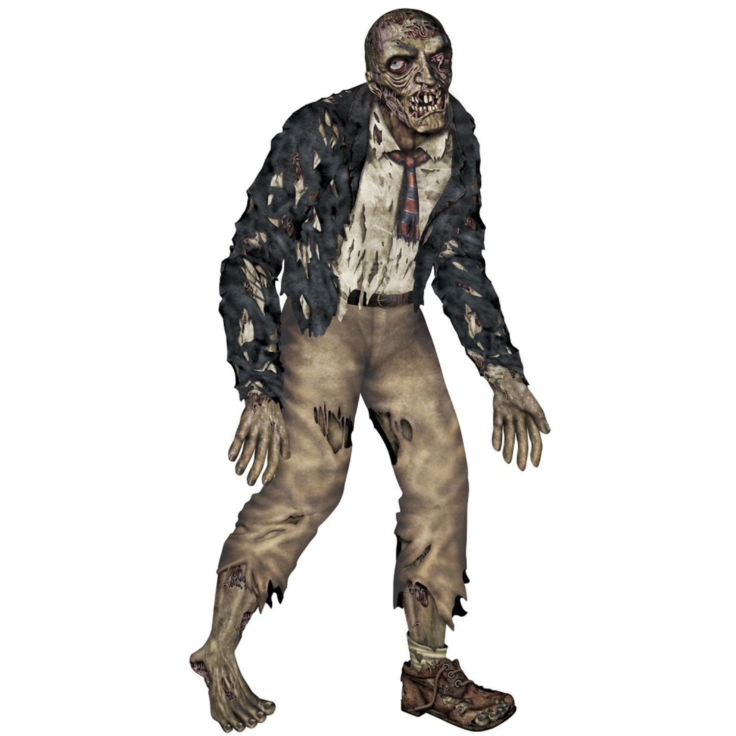 Club Pack of 12 Jointed Gruesome Zombie Halloween Wall Decoration 72""
