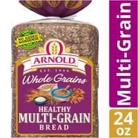 Arnold Whole Grains Healthy Multi-Grain Bread, Baked with Simple Ingredients, 24 oz