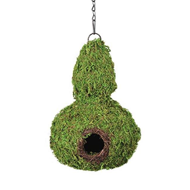 Galapagos Pet Supply 56011 7. 5 x 12 inch Gourd Woven Birdhouse - Fresh Green, Case of 6