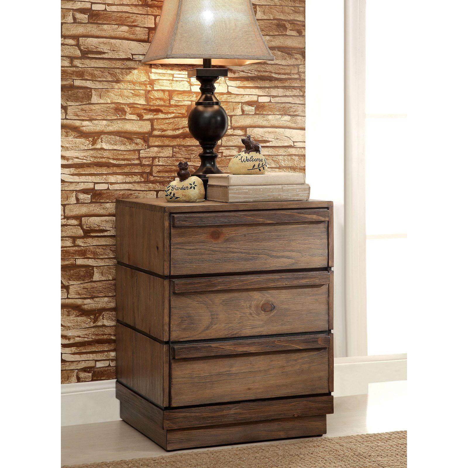 Furniture of America Tybalt 3 Drawer Nightstand