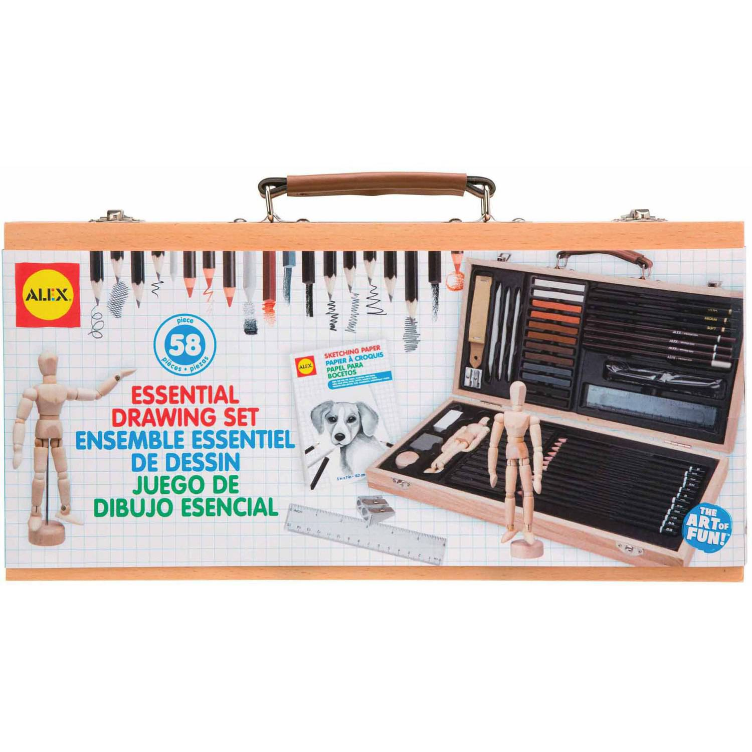 ALEX Toys Artist Studio Portable Essential Drawing Set with Wood Carrying Case by Poof-Slinky