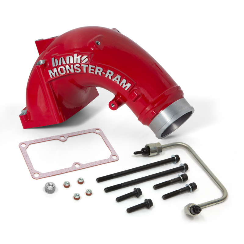 Banks Power 07.5-17 Ram 2500/3500 6.7L Diesel Monster-Ram Intake System w/ Fuel Line 3.5in Red
