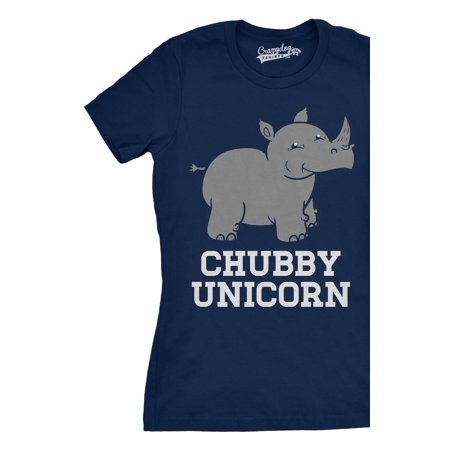 Rhino Soft Top - Womens Chubby Unicorn Tshirt Funny Cute Adorable Fat Rhino Animal Tee