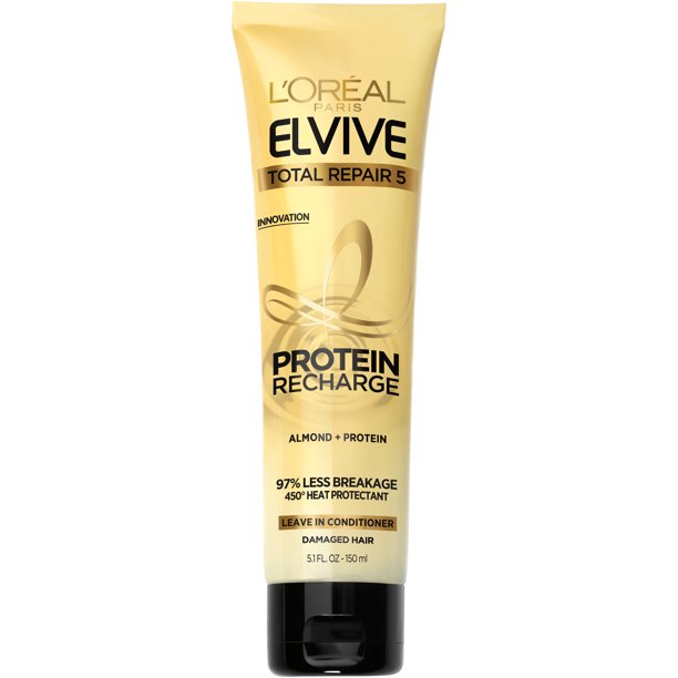 L'Oreal Paris Total Repair 5 Protein Recharge Leave In Conditioner, Elvive, 5.1 oz.