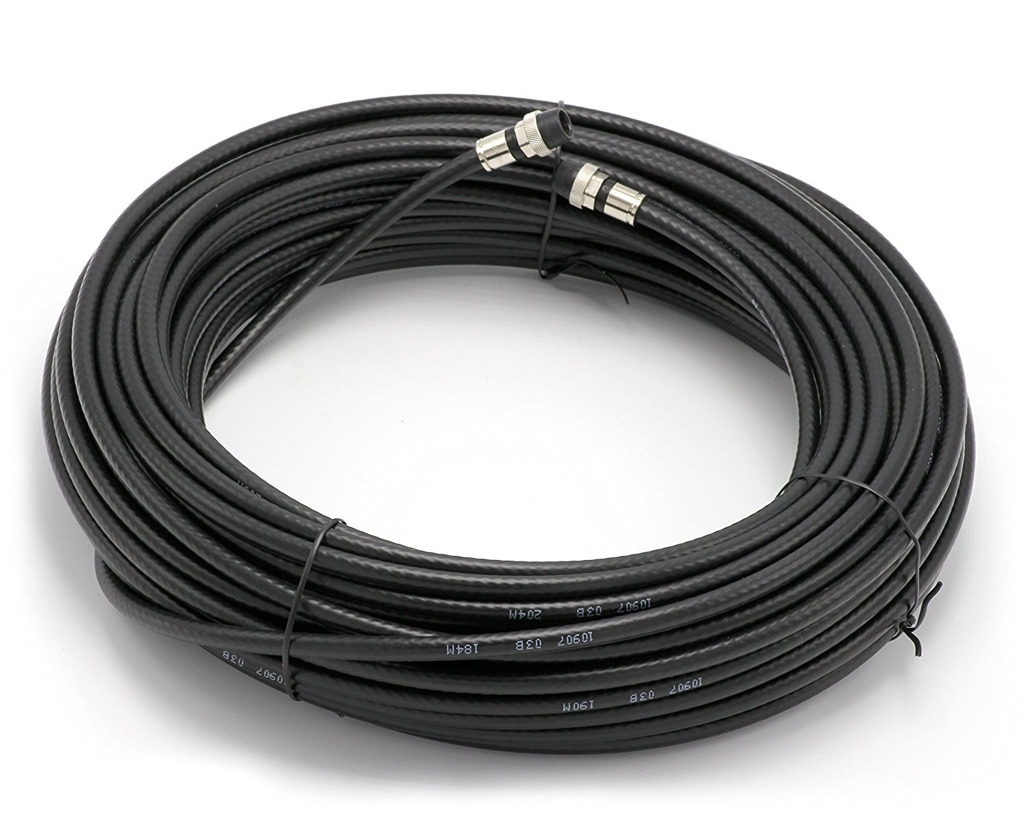 Antenna White RG6 Coaxial Cable F81 // RF Made in The USA THE CIMPLE CO Digital Coax for CATV Weather Proof with Rubber booted 100 Feet Satellite Internet Outdoor Rated Connectors