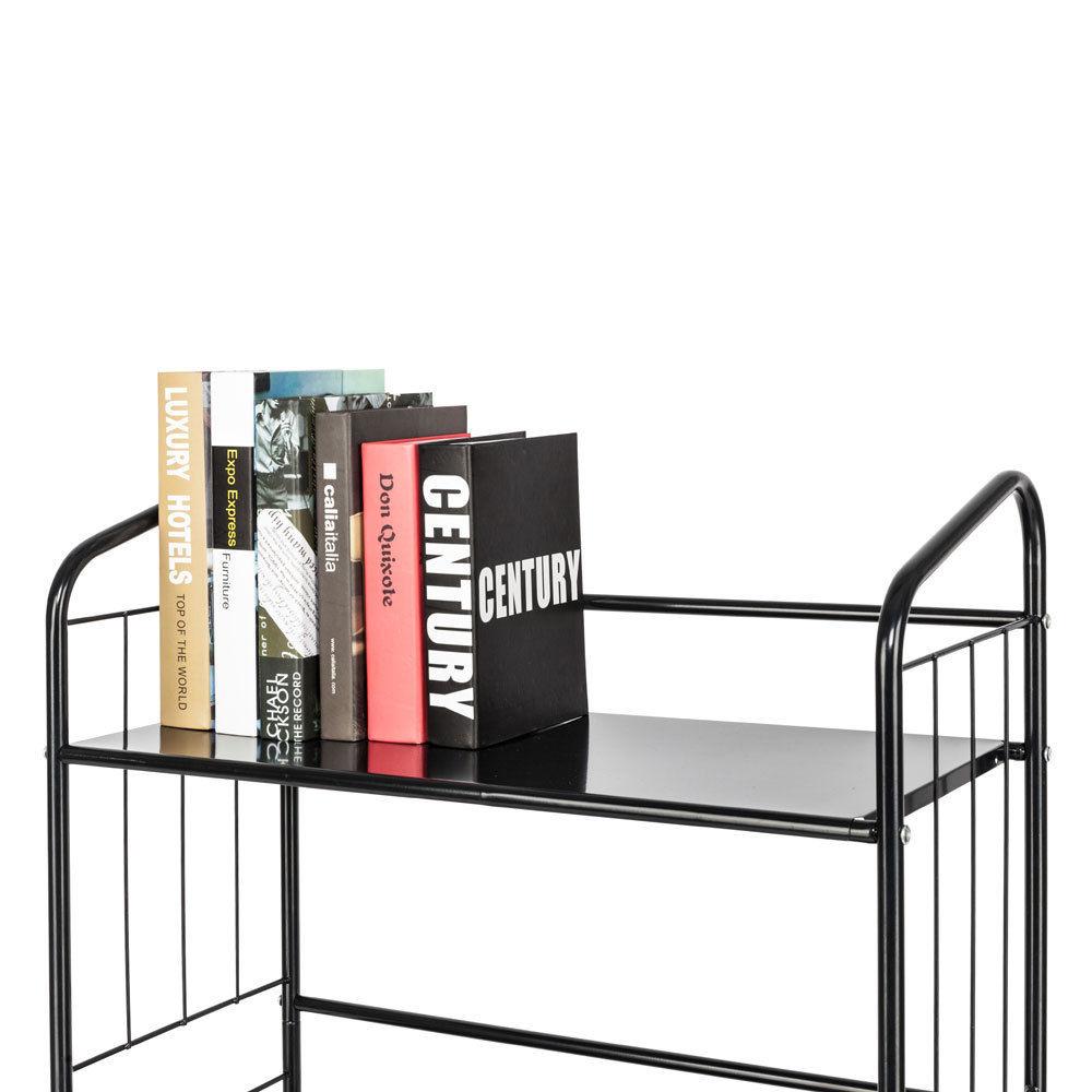 ... Ktaxon Metal Outdoor Patio Plant Stand 3 Tier Shelf Indoor Bookcase  Shelving Storage ...