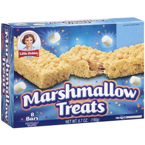 Little Debbie Snacks Marshmallow Bar Treats, 8ct