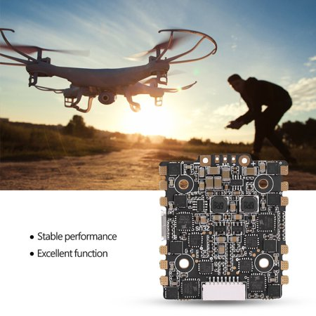 XJB F4 Zeus Flight Controller Integrated with OSD 5V BEC AIO 15A BLheli_S 4  In 1 ESC, Drone FC, Drone Flight Controller