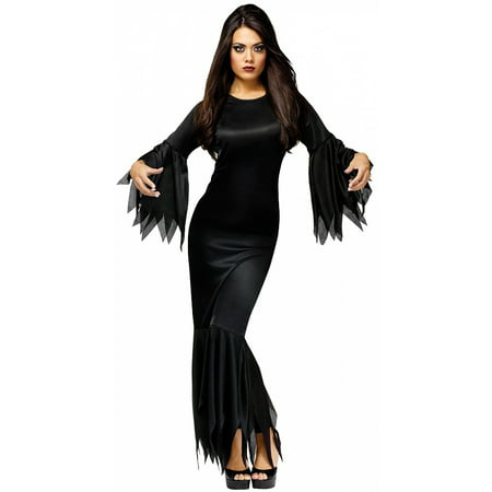 Madam Morticia Adult Costume - One Size - Morticia E Gomez Halloween