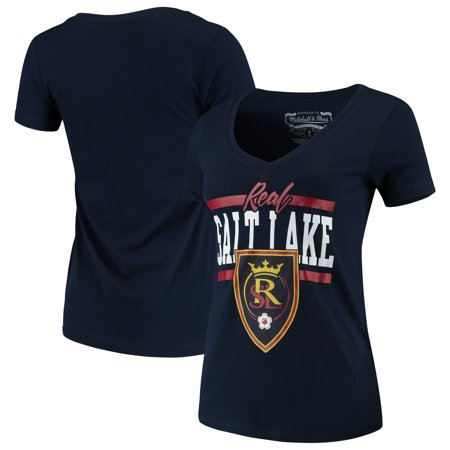 dc370b487fb5 Real Salt Lake Mitchell   Ness Women s MVP Bar Graphic T-Shirt - Navy -  Walmart.com