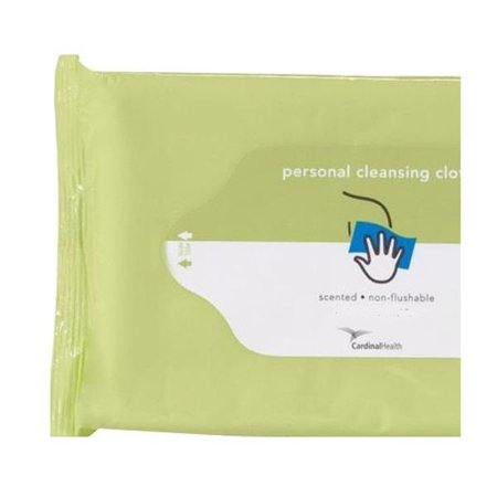 Cardinal Personal Cleansing Cloth, Non-flushable, Scented -1 Pack of
