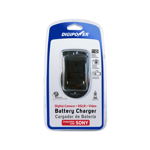 DigiPower QC-500S Travel Battery Charger for Sony Digital Cameras and Camcorders