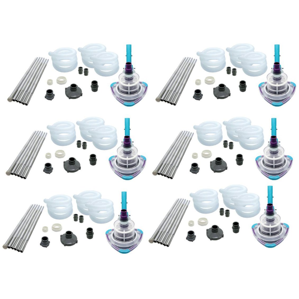 Kokido V-TRAP Vac Soft Sided Swimming Pool Vacuum Cleaner System (6 Pack)