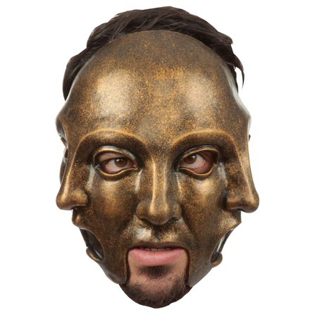 3 Faces Gold Adult Mask](Ghoulish Halloween Faces)