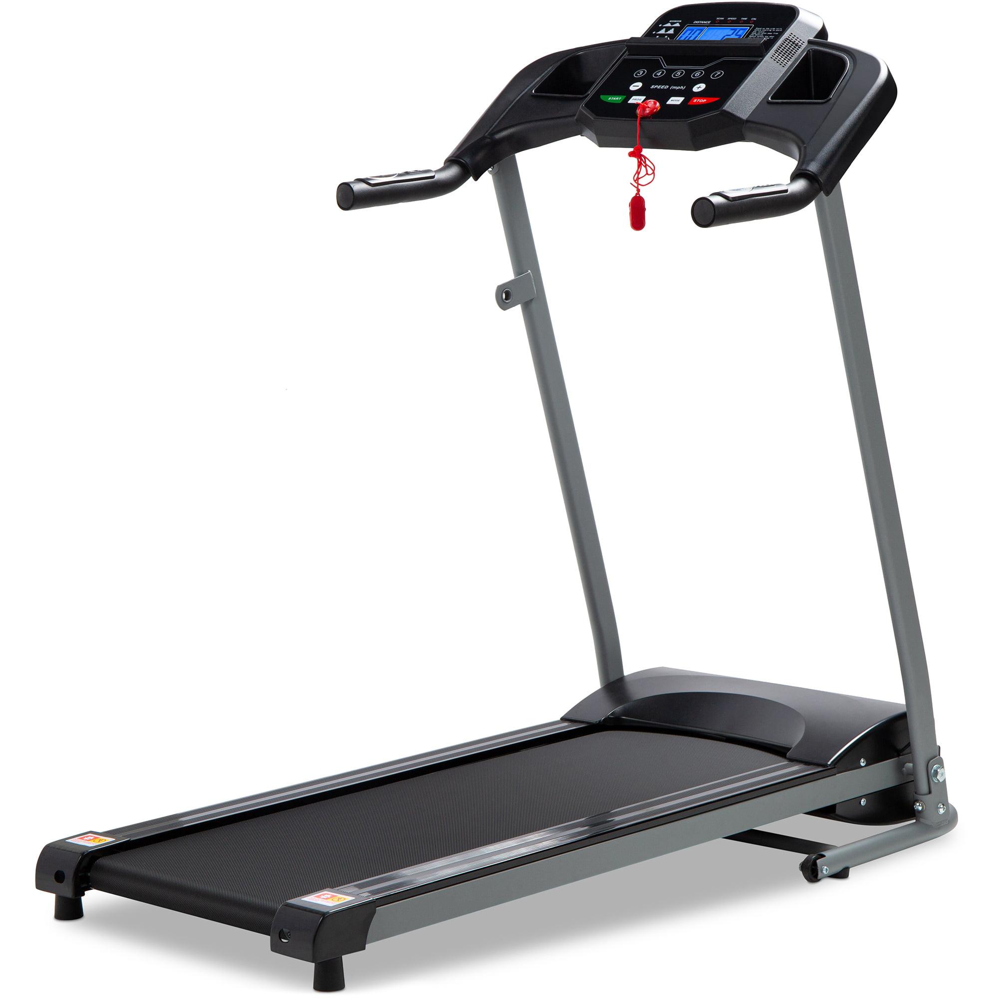 Best Choice Products 800W Portable Folding Electric Motorized Treadmill Machine w/ Rolling Wheels - Black