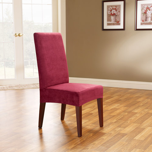 Sure Fit Soft Suede Shorty Dining Room Chair Slipcover