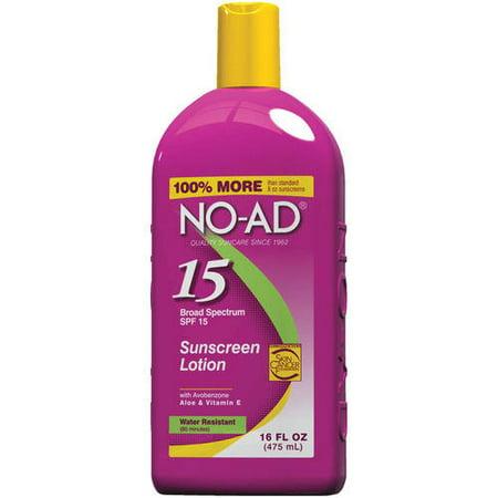 NO-AD Sunscreen Lotion SPF 15, 16 oz