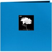 "Book Cloth Cover Post Bound Album 8""X8""-Sky Blue"