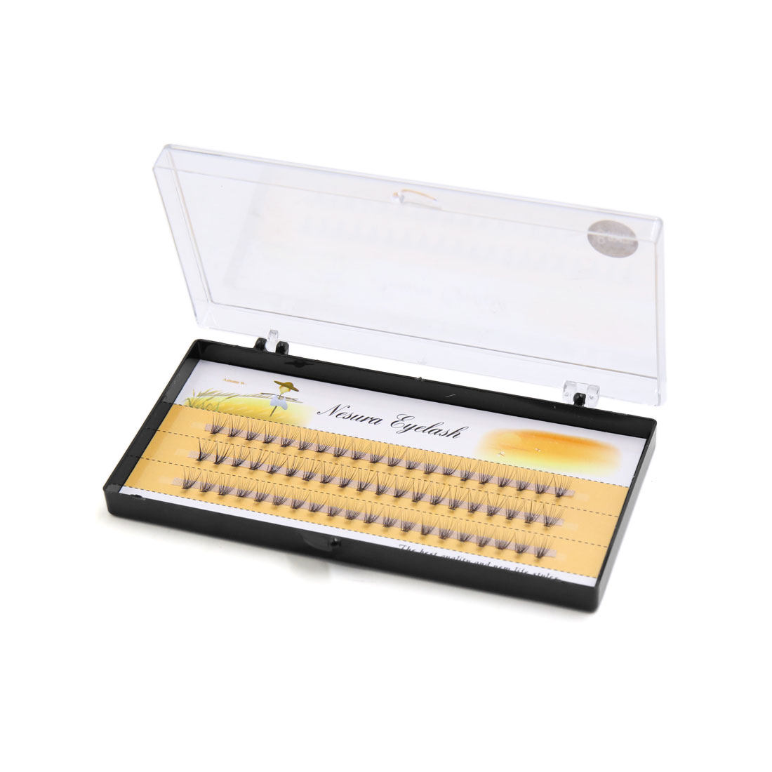 60pcs 8-12mm Individual Lashes Black False Faux Fake Eyelash Natural Long Extension Makeup Tool
