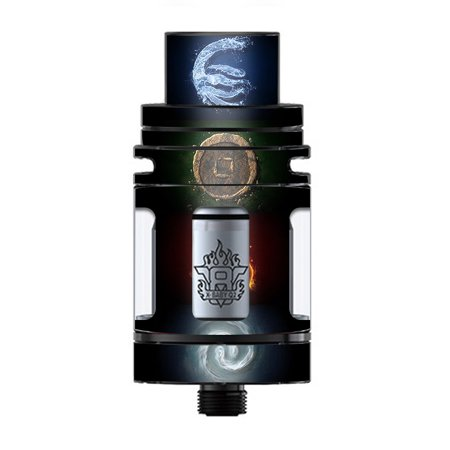Skin Decal Vinyl Wrap for Smok TFV8 X-Baby Tank Vape skins stickers cover/ Elements Water Earth Fire Air ()