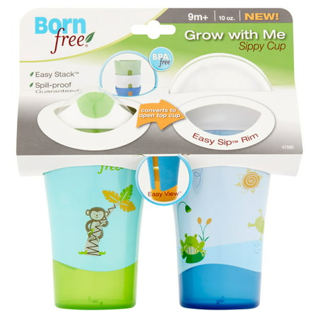 Born Free Drinking Cup Spouts (Born Free Grow With Me Hard Spout Sippy Cup - 2 pack )