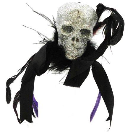 Gallerie Ii Halloween (Halloween Glitter Skull Headband Hat - Black Headband, Includes a 2 Pack of Skull Decorated Headbands By GALLERIE II from)