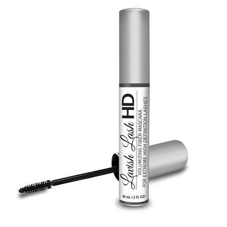 Lavish Lash HD by Hairgenics - Ultra-Premium Volumizing Fiber Mascara for Extreme High Definition Lashes