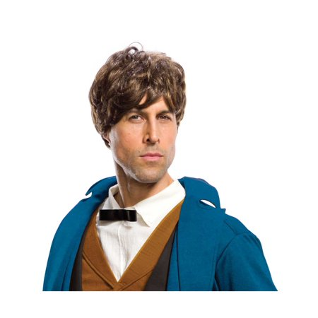 Fantastic Beasts Newt Scamander Brown Adult Mens Costume Wig](Mens Wigs)