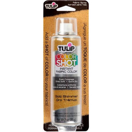 Tulip ColorShot Instant Fabric Color Spray 3 oz., Gold Shimmer
