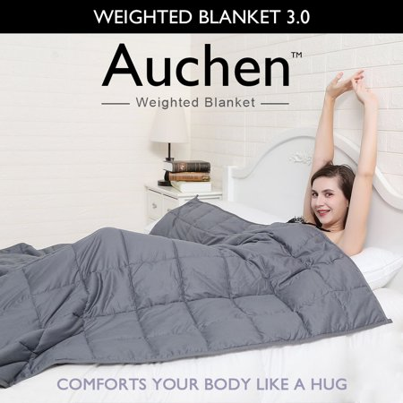 Auchen Weighted Blanket 3.0 | Best Heavy Adult Weighted Blankets 15 Pound | Great for Insomnia, Autism, ADHD, Stress and Anxiety Relief | 15 lbs, 48