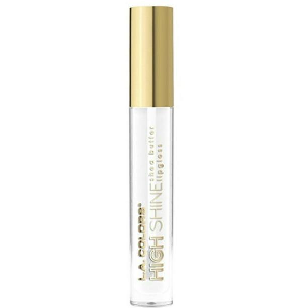 2 Pack - L.A. Colors High Shine Shea Butter Lip Gloss, Clear 0.14 oz