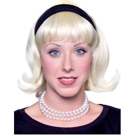 Women's 50s Blond Flip Wig](50s Shoes For Women)