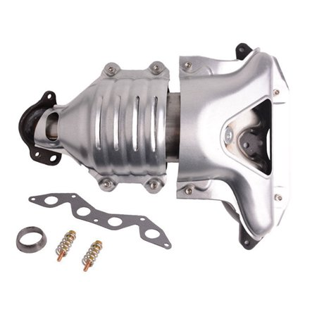 Honda Civic Universal Catalytic Converter - Catalytic Converter 1.7L Exhaust Manifold 673-608 & 674-608 For Honda Civic 01-05 DX LX CX L4 SOHC REPH960325