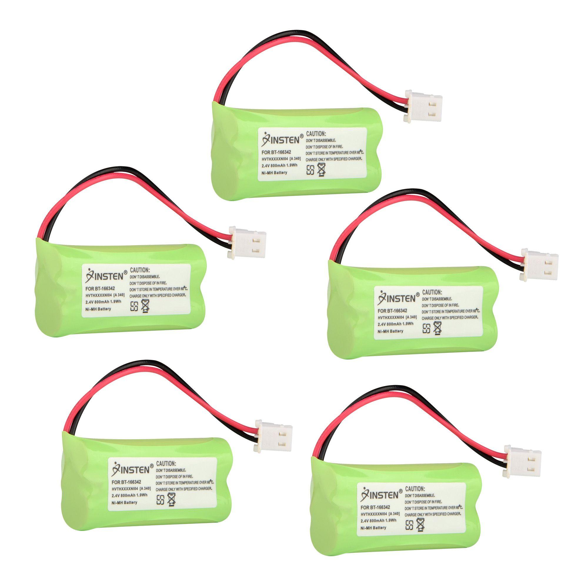Insten (5 Pack) Extra Ni-Mh Cordless Phone Battery For Vtech BT-166342 89-1347-01-00 BT-1183342 BT262342 BT-266342 (5-Pack Bundle)