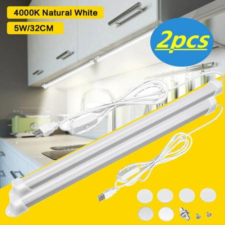 LED Closet Light, 1/ 2 Pcs 20-LED Motion Sensor Night Light Under Cabinet Light Bar, USB for Closet/Drawer/Cupboard Length 1.8m, - Usb Light Sensor