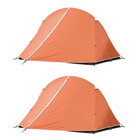 (2) COLEMAN Hooligan 2 Person Camping Dome Tents w/ WeatherTec System - 8' x 6'