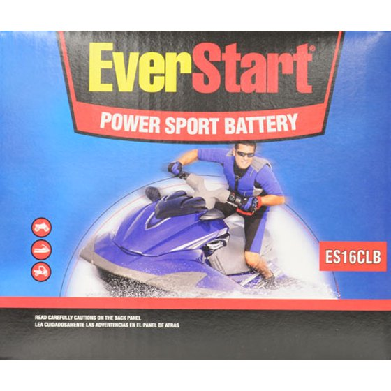 EverStart PowerSport Battery, ES-16CLB - Walmart com