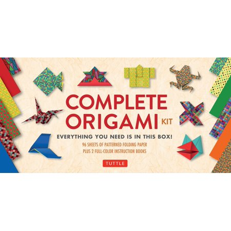 Complete Origami Kit : [Kit with 2 Origami How-to Books, 98 Papers, 30 Projects] This Easy Origami for Beginners Kit is Great for Both Kids and Adults ()