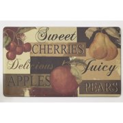 "Chef Gear Scrumptious Fruit Anti-Fatigue Gelness Comfort 18"" x 30"" Chef Mat"