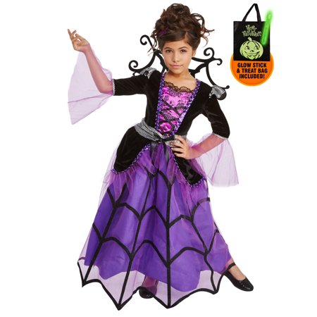 Splendid Spiderella Child Costume Treat Safety Kit](Safety Cone Costume)