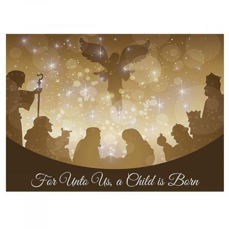 Golden Illumination Christmas Cards - Set of 18