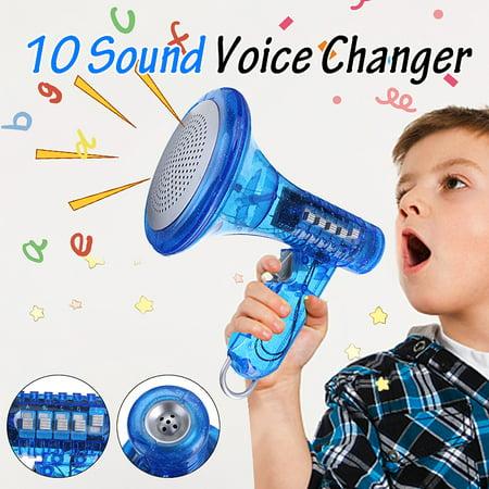 Halloween Voice Changer Amazon (Voice Changer 10 Sound Effects Blue Robot Loud LED Super Bright Children Kids Toy)