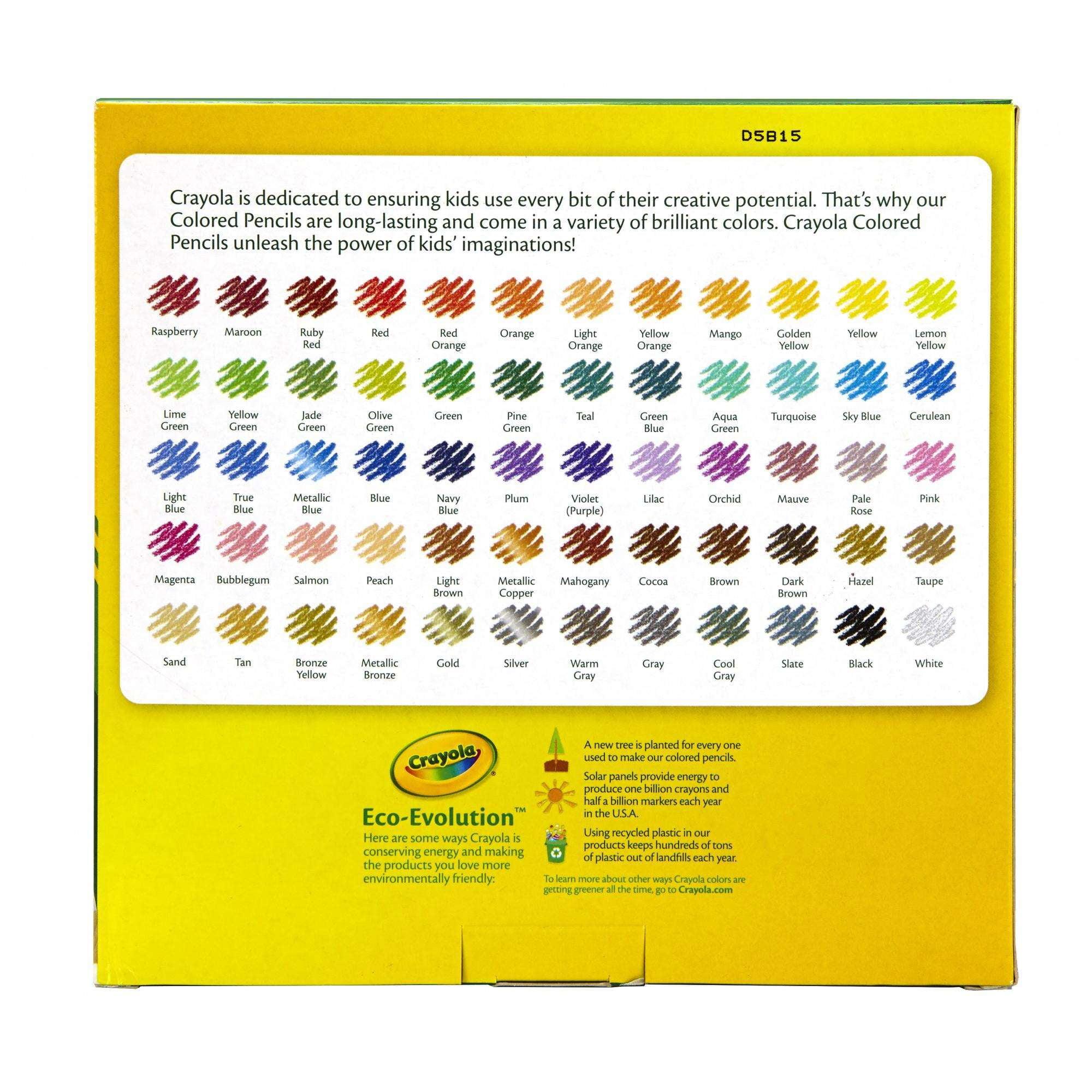 Crayola Colored Pencil Set 100 Pencils eBay